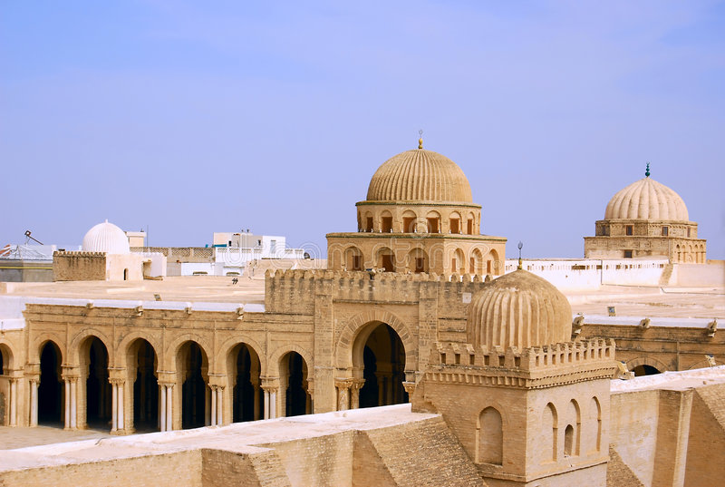 Grande mesquita de Kairouan imagens de stock royalty free