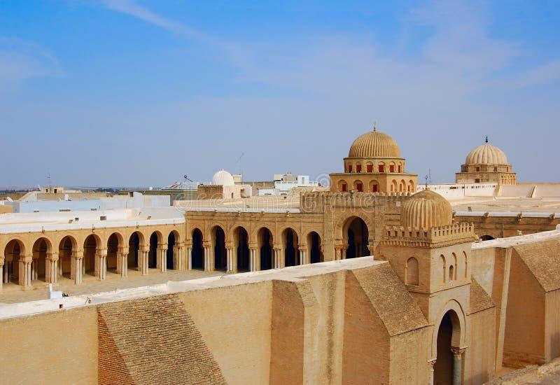 Grande mesquita de Kairouan fotos de stock royalty free