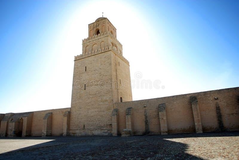 Grande mesquita de Kairouan em Tunísia imagens de stock