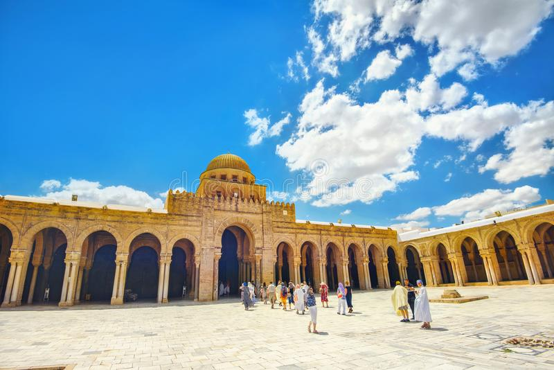 A grande mesquita em Kairouan Tunísia, Norte de África imagem de stock royalty free