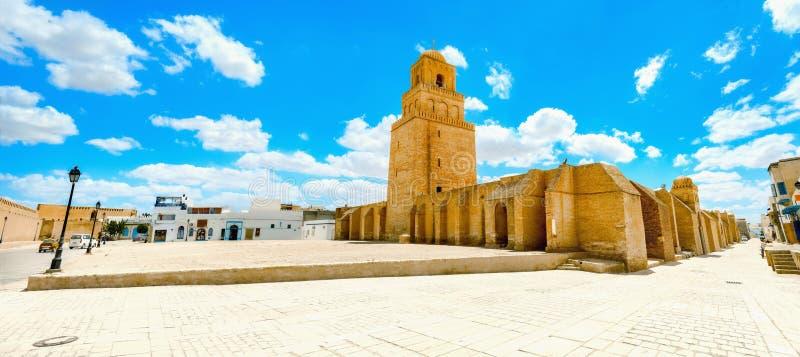 Grande mesquita em Kairouan Tunísia, Norte de África foto de stock