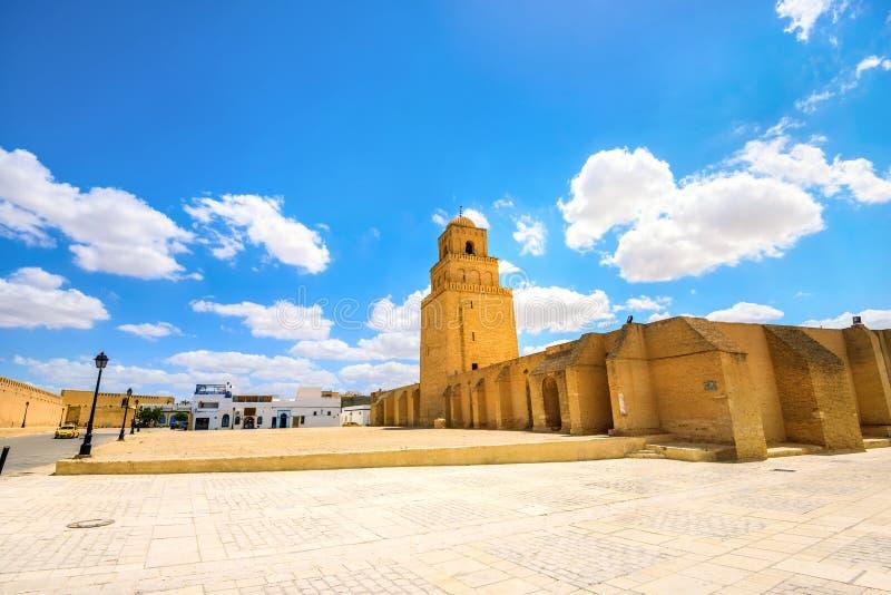 Grande mesquita em Kairouan Tunísia, Norte de África imagens de stock