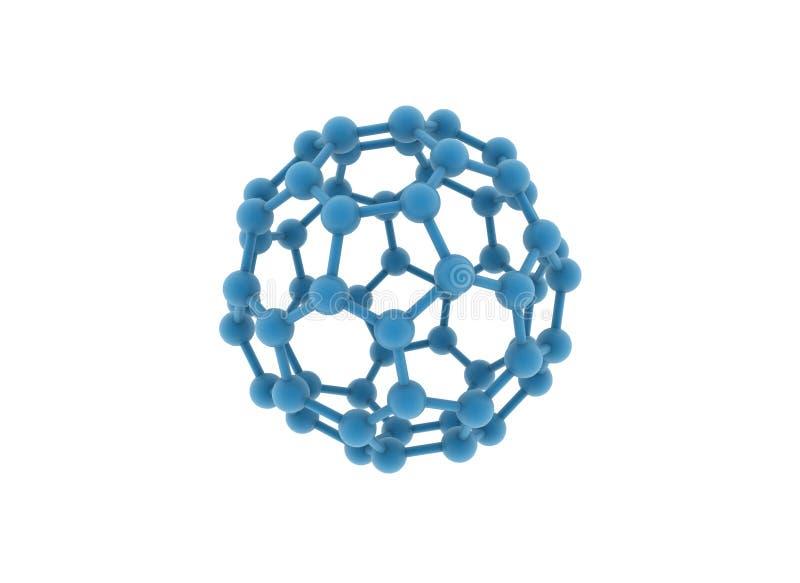 Grande molécula ilustração do vetor