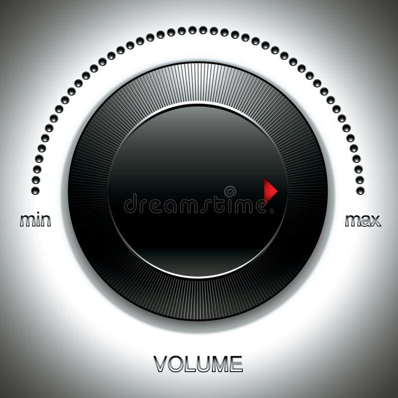 Grande molette noire de volume. illustration stock