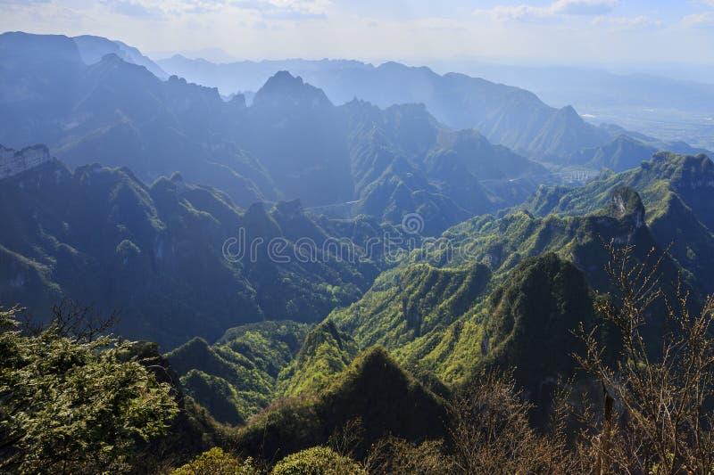 A grande montanha Tianmen Shan foto de stock royalty free