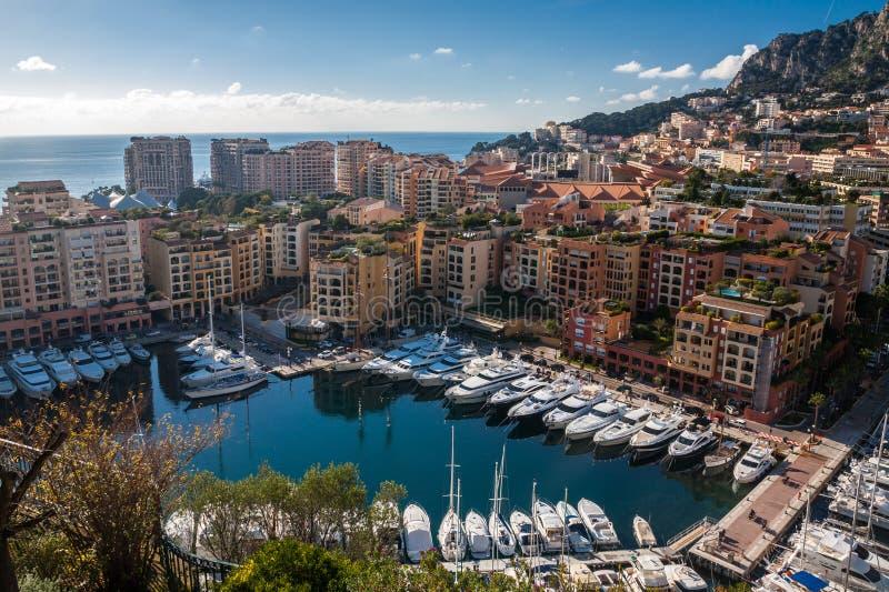 Grande Monte Carlo Skyline in Riviera francese fotografia stock libera da diritti