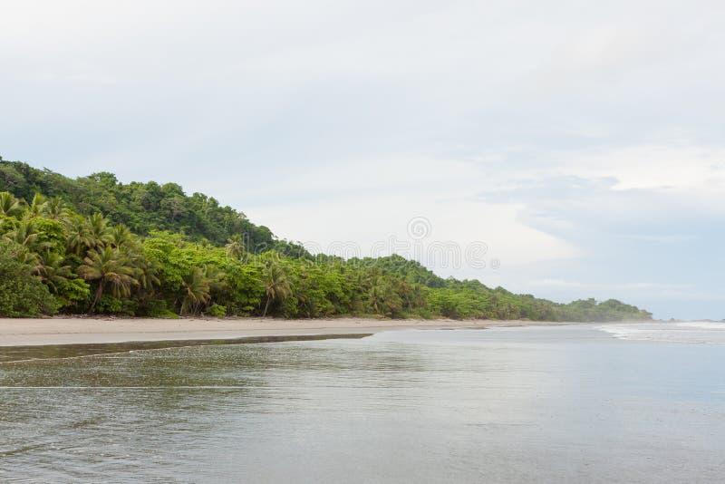 Grande montezuma aperto della spiaggia di sabbia fotografia stock libera da diritti