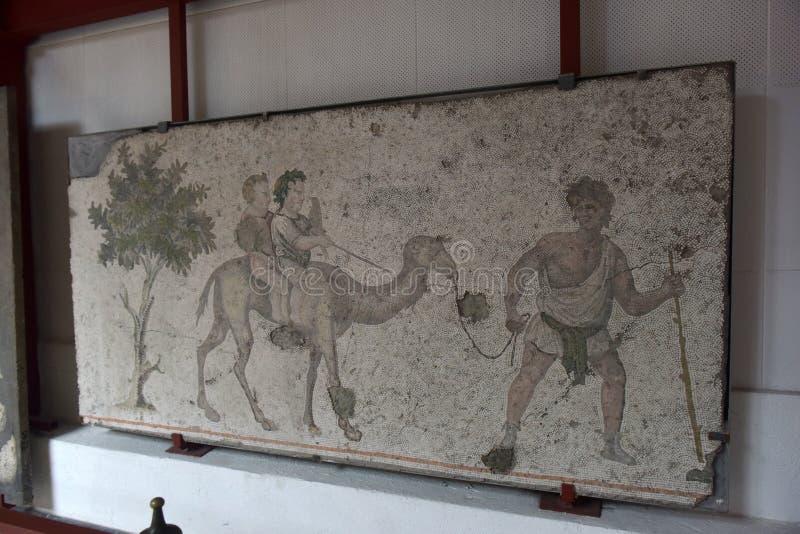 Grande mosaïque de palais au musée de mosaïque d'Istanbul photographie stock