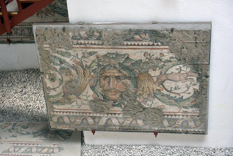 Grande mosaico del palazzo al museo del mosaico di Costantinopoli fotografia stock libera da diritti