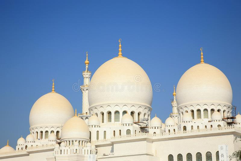 Grande moschea Ahu Dhabi fotografie stock