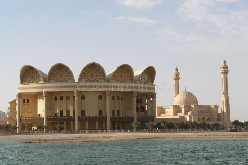 Grande moschea di Al-Fateh in Bahrain fotografia stock libera da diritti