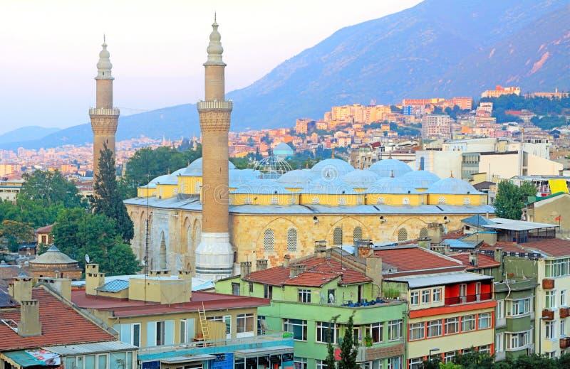 Grande moschea di Bursa fotografia stock libera da diritti