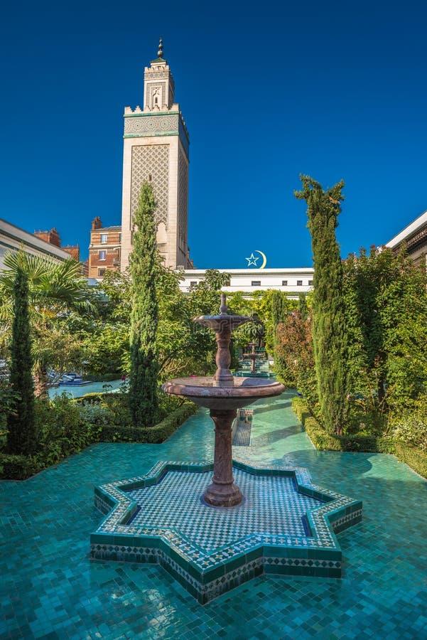 Grande moschea di Parigi fotografie stock libere da diritti