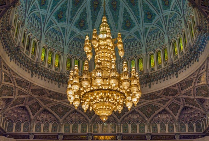 Grande moschea - Muscat - Oman fotografia stock libera da diritti