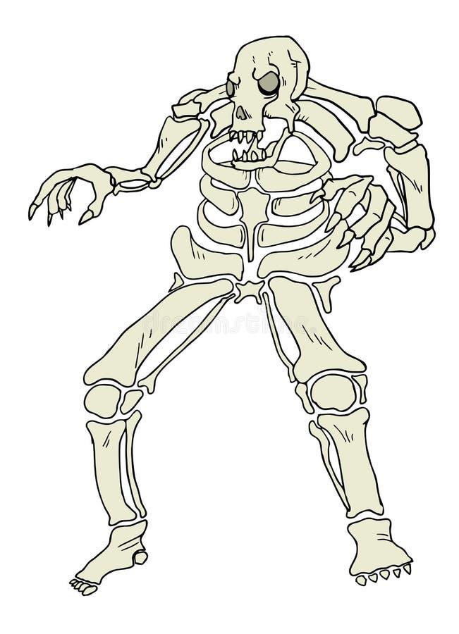 Download Grande mostro del cranio illustrazione vettoriale. Illustrazione di disegno - 55357140