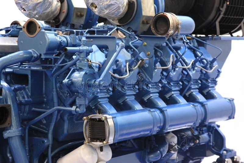 Grande motor diesel fotos de stock royalty free