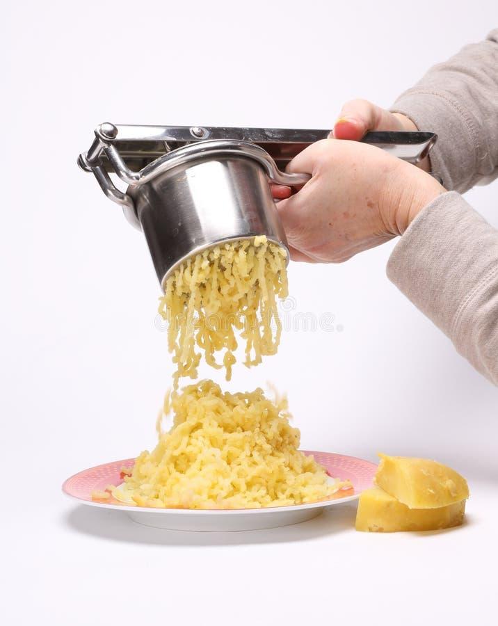 Grande mucchio delle patate fracassate fotografie stock