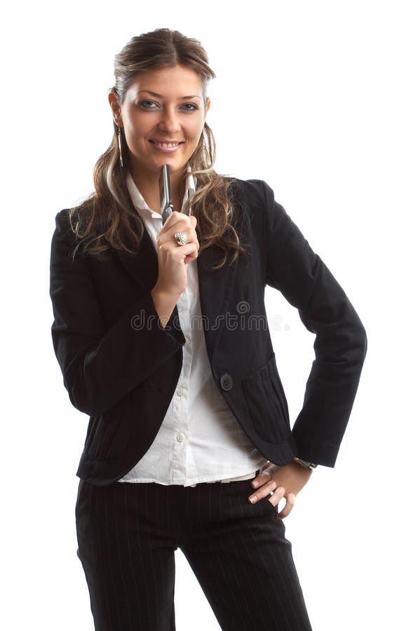 Grande mulher de negócio de vista imagem de stock