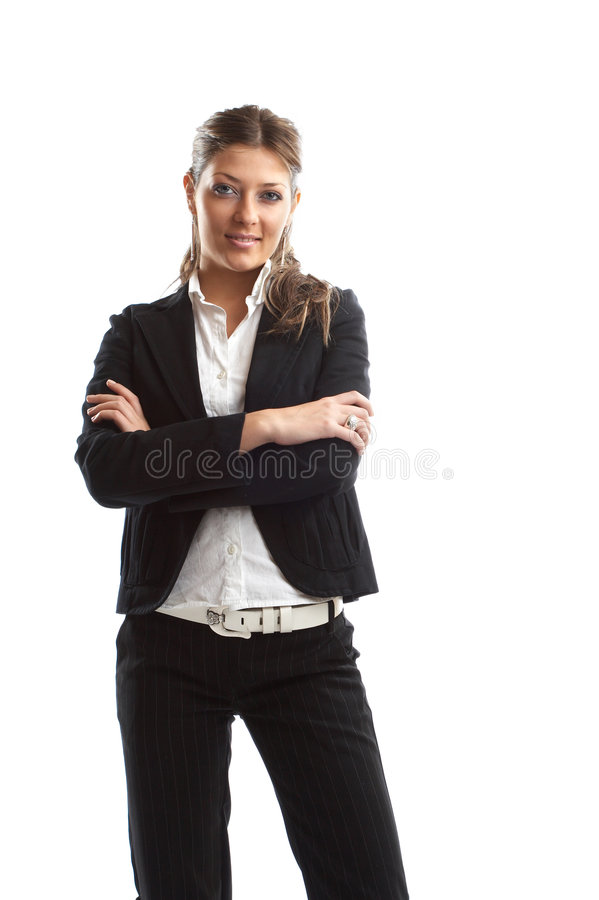 Grande mulher de negócio de vista fotos de stock royalty free