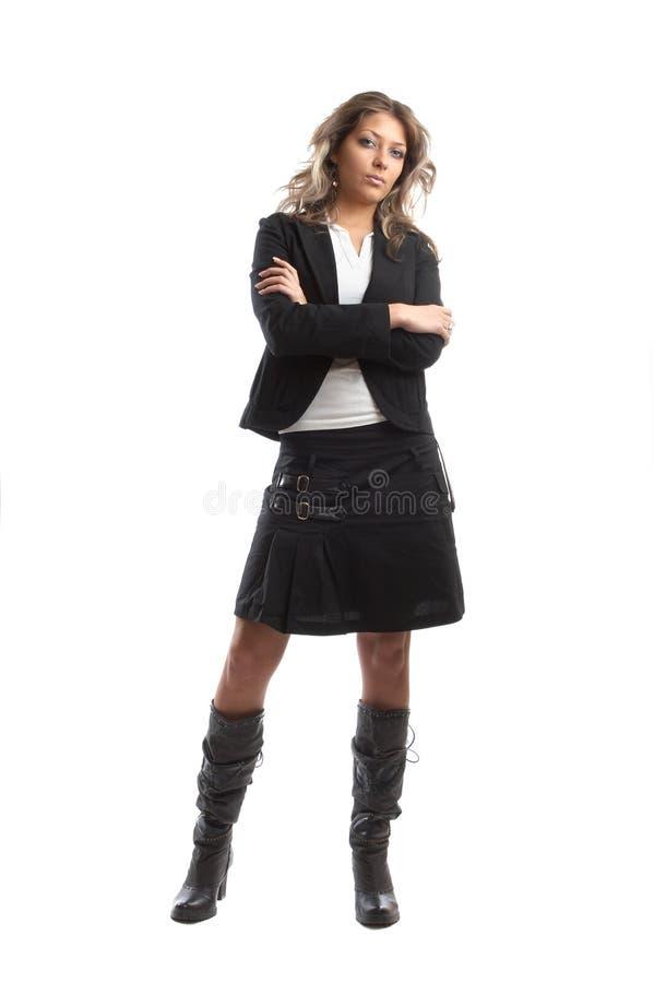 Grande mulher de negócio de vista fotografia de stock