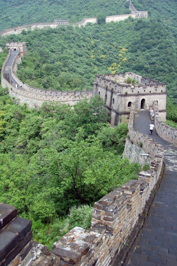 Grande Muraglia della porcellana, Mutianyu immagine stock libera da diritti