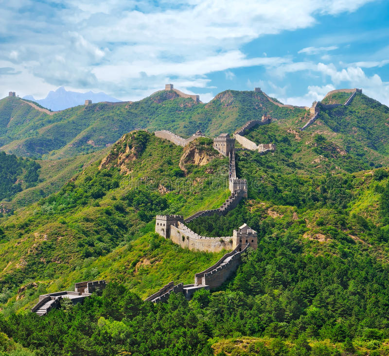 Grande muraglia di estate fotografie stock