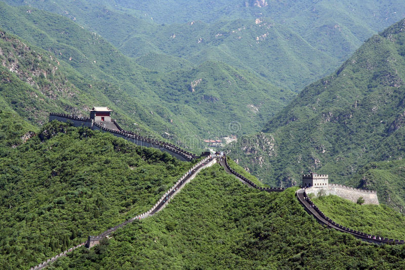 Grande Muraille chinoise chez Juyongguan images stock