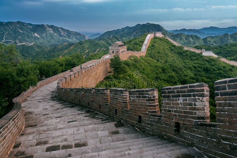 Grande Muraille dans le comté de Yanqing photographie stock libre de droits