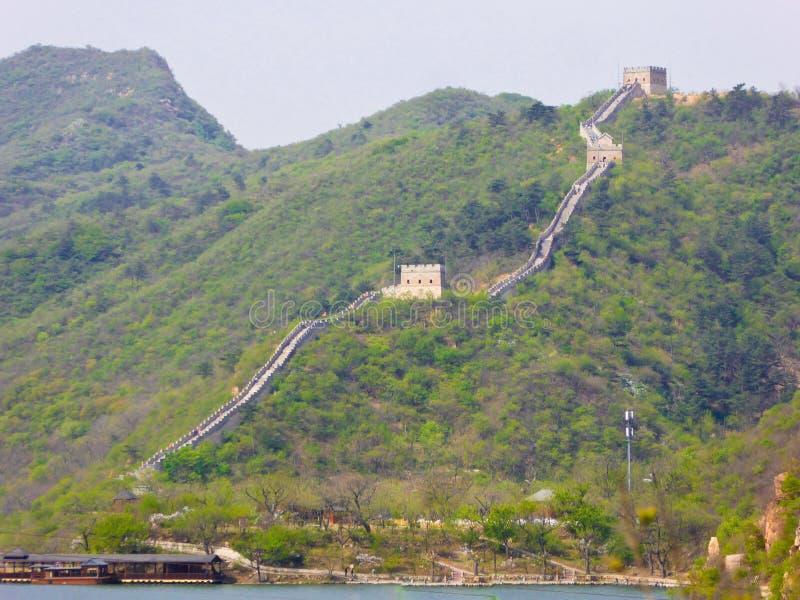 Grande Muraille de Huanghuacheng sur la colline image libre de droits
