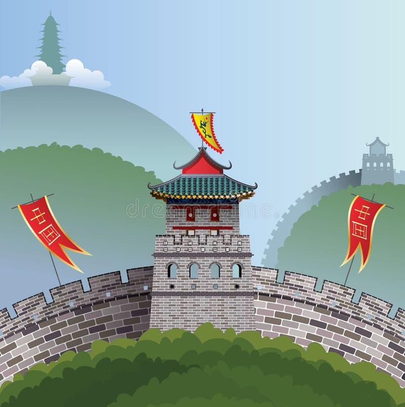 Grande Muraille de la Chine illustration de vecteur