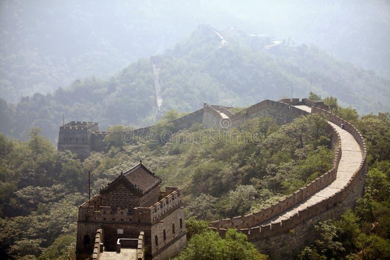 Grande Muraille de la Chine chez Mutianyu photos libres de droits