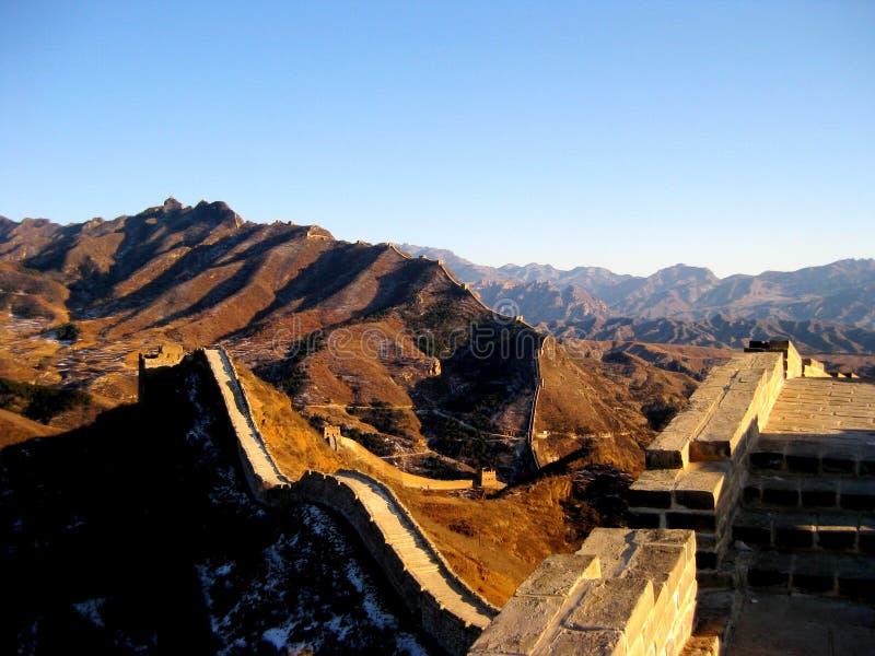 Grande Muraille de la Chine en hiver images libres de droits
