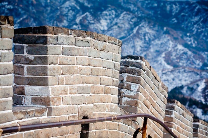 Grande Muralha chinês no inverno imagens de stock royalty free