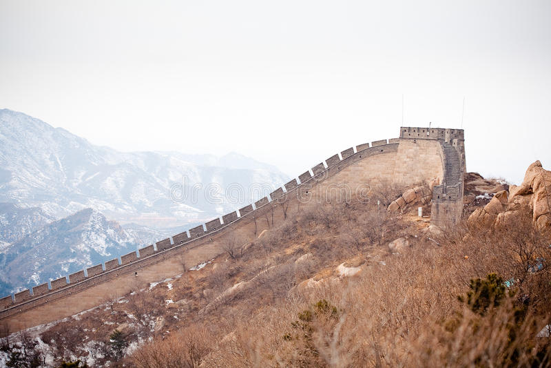 Grande Muralha chinês no inverno fotos de stock