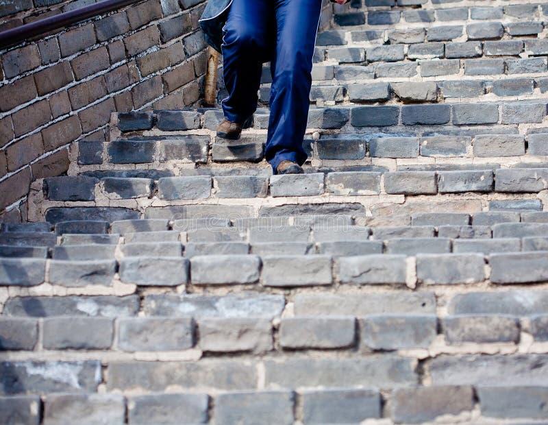 Grande Muralha chinês no inverno imagens de stock