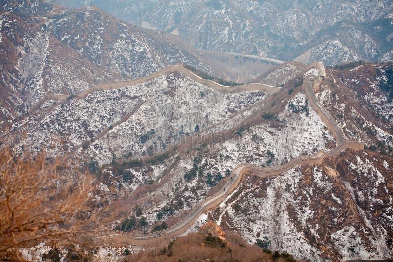 Grande Muralha chinês no inverno fotografia de stock royalty free