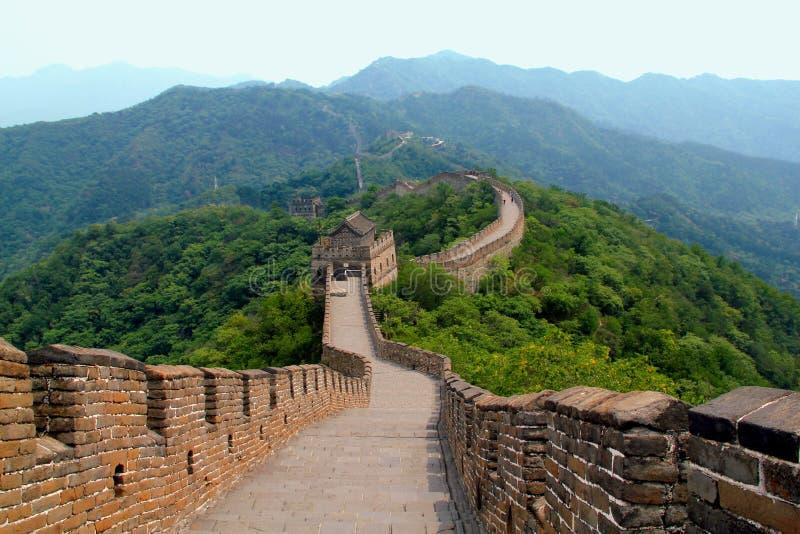 Grande Muralha da cena de China imagens de stock
