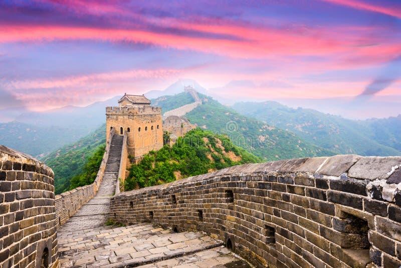 Grande Muralha de China fotografia de stock