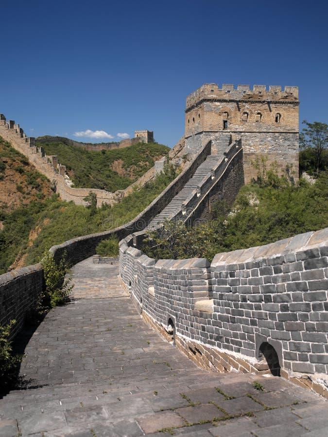 Grande Muralha de China - Jinshanling perto de Beijing fotografia de stock