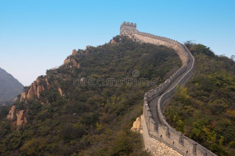 Grande Muralha de China, local do curso perto de Beijing imagem de stock royalty free