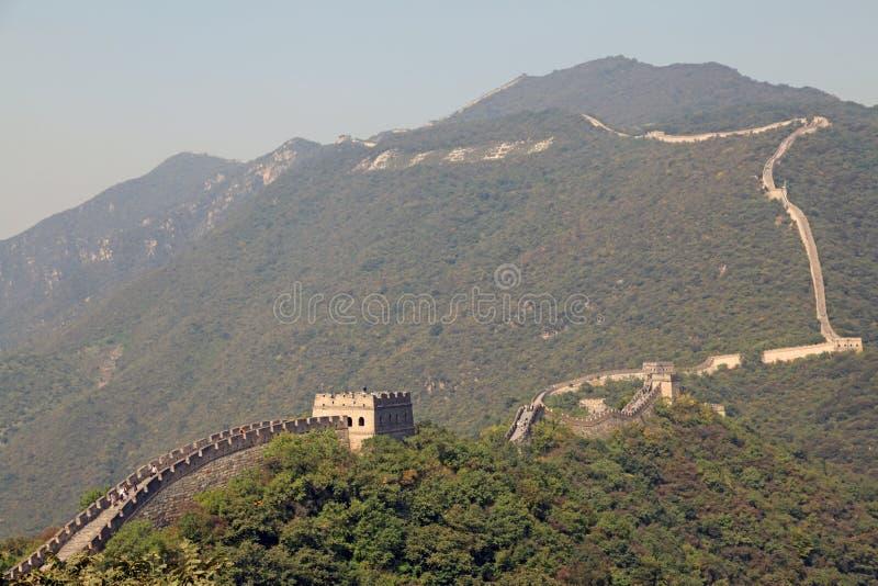 Grande Muralha de China Mutianyu fotos de stock royalty free