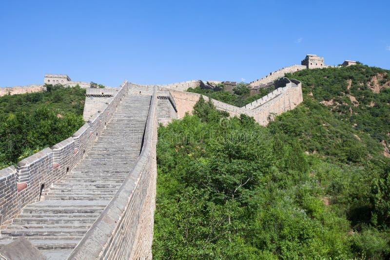 Grande Muralha de China no dia ensolarado fotografia de stock royalty free