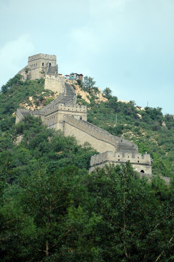 Grande Muralha de China - tarde do verão fotografia de stock royalty free