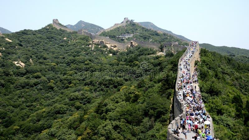Grande Muralha de Chinesee em Biejing, China imagens de stock