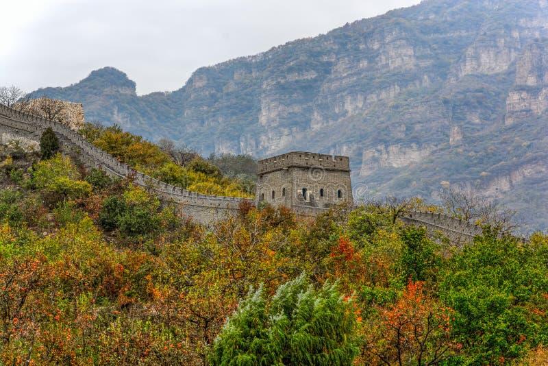 Grande Muralha de Huangyaguan imagem de stock