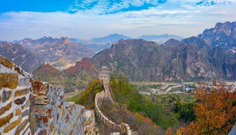 Grande Muralha de Huangyaguan imagens de stock royalty free