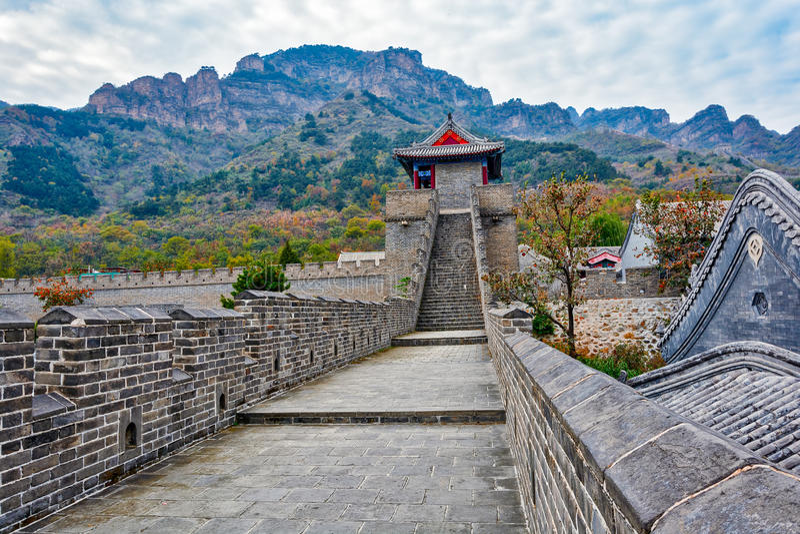 Grande Muralha de Huangyaguan foto de stock