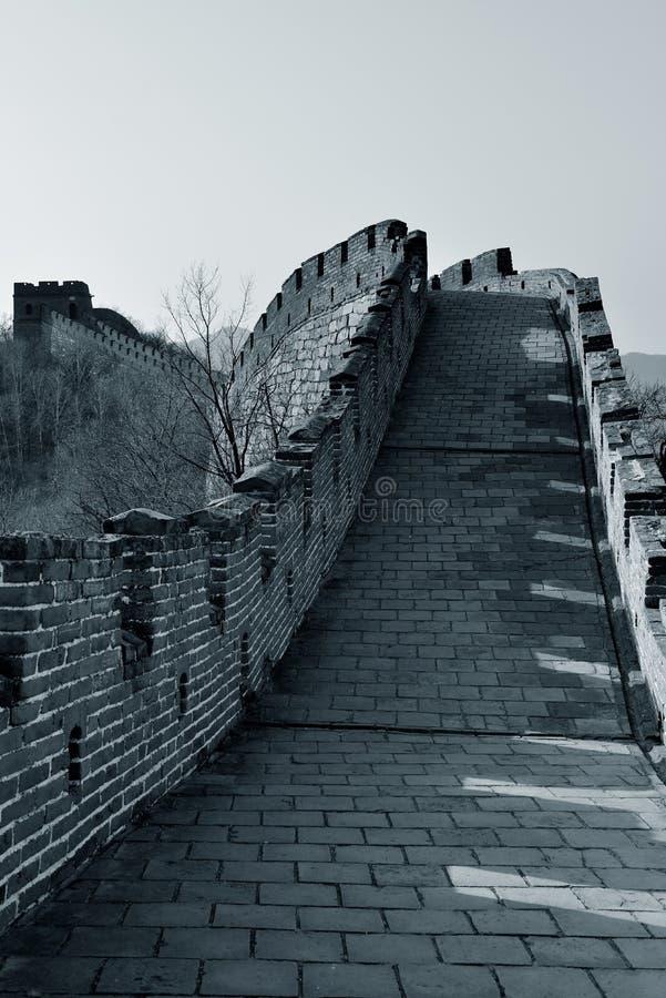 Grande Muralha em preto e branco fotografia de stock royalty free