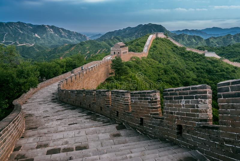 Grande Muralha em Yanqing County fotografia de stock royalty free