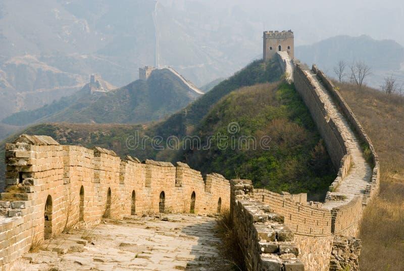 Grande Muralha famoso em Simatai perto de Beijing imagens de stock royalty free